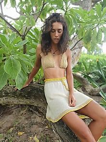 Šaty - Hodvábna plážová suknička - 10962769_
