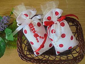 Darčeky pre svadobčanov - Svadobné levandulové vrecká - 10960670_