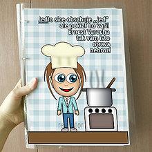 Papiernictvo - Vtipný receptár s vlastnou karikatúrou (chlapec s čapicou) - 10962542_