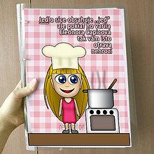 Papiernictvo - Vtipný receptár s vlastnou karikatúrou (sladké dievča) - 10962544_