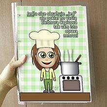 Papiernictvo - Vtipný receptár s vlastnou karikatúrou (fresh kuchárka) - 10962546_