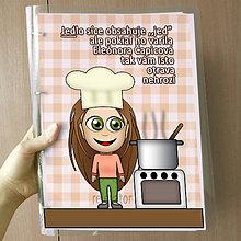Papiernictvo - Vtipný receptár s vlastnou karikatúrou (marhuľová dlhovláska) - 10962547_