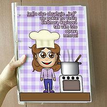 Papiernictvo - Vtipný receptár s vlastnou karikatúrou (levaduľová krásavica) - 10962548_