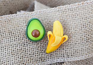Odznaky/Brošne - Banán s avokádom - sada brošní - 10963725_