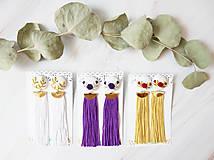 Náušnice - Fielové ruže so strapcom - 10963876_