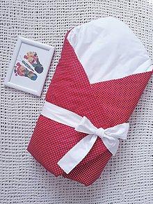 Textil - Červená zavinovačka s bielou mašľou - 10964595_