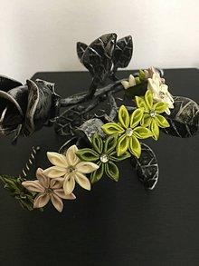 Ozdoby do vlasov - Čelenka z kvetov - 10964403_