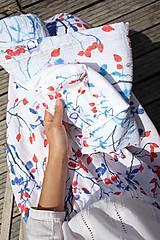 Textil - FLORAL gázovinová prikrývka - Šípky - 10964610_