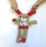 Textilné zvieratko - Zajačik od Tulipánovej záhrady