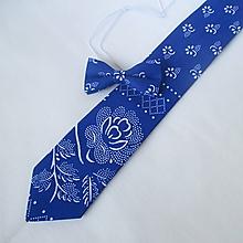 Doplnky - set  pánska kravata + detský motýlik - 10964284_