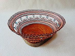 Dekorácie - Drôtená miska S kvapkami rosy - 10963804_