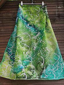 Šatky - silk scarf_hodvábna šatka_abstraction - 10964725_