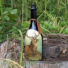Iné - Fľaša pre lovca Sediaci jeleň - 10965152_