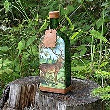 Iné - Fľaša pre lovca jeleňov Zelená - 10965195_