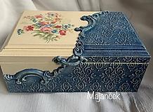 Krabičky - modrá krabička - 10964528_