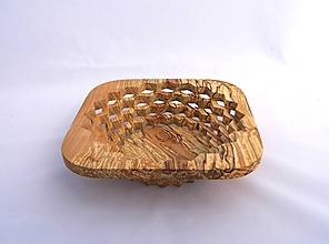 Nádoby - Drevená miska 21cm špaltovaná jelša - 10963495_