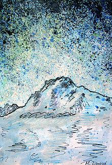 Obrazy - Modré hviezdy - 10964545_