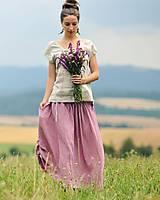 Sukne - Maxi sukně z mušelínu - růžovofialová - 10963915_
