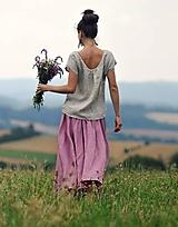 Sukne - Maxi sukně z mušelínu - růžovofialová - 10963916_