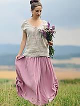 Sukne - Maxi sukně z mušelínu - růžovofialová - 10963917_