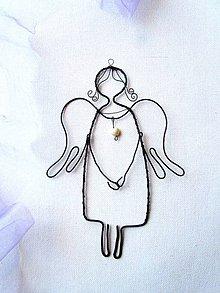 Dekorácie - Pokojný anjel *17 cm - 10965060_