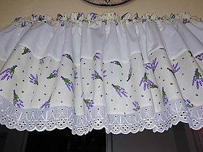Úžitkový textil - záclonka lavender - 10965519_