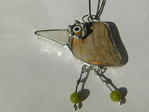 Náhrdelníky - Drozdík- jadeit, tiffany - 10966495_