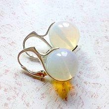 Náušnice - Opalite Earrings AG925 / Strieborné náušnice s opalitom #2200 - 10966166_