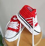 Topánočky - Červené tenisky - 10966349_