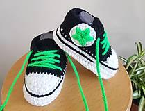 Topánočky - Čierne tenisky s hviezdičkou - 10966438_