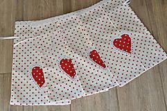 Úžitkový textil - Biele bodkované vrecúška - 10967181_