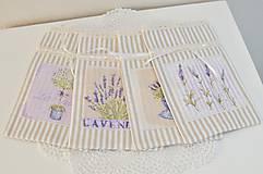 Úžitkový textil - Pásikové vrecká na levanduľu - 10967266_