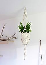 Nádoby - makramé držiak na kvet či vázu - 10967681_