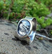 Prstene - Strieborný Prsteň s Rutilovým Krištáľom - 10967310_