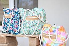 Veľké tašky - Obrovská plážová taška - farebný ananás - 10966472_