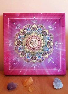 Dekorácie - Mandala Lásky a harmonizácie - 10967414_