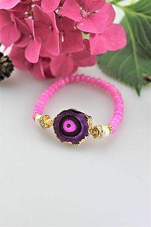Náramky - achátová drúza ,jadeit a perly náramok luxusný - 10967347_