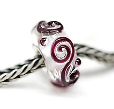 Náramky - Purple lace pandora /ch-151 - 10967289_