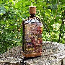 Iné - Lovecká fľaša Jeleň v krajine - 10965819_