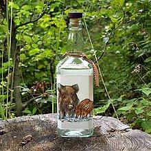 Iné - Poľovnícka fľaša Diviačia rodinka - 10967097_