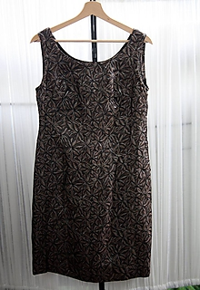 Šaty - Šaty. Klasické nadčasové z retro brokátu - 10967417_