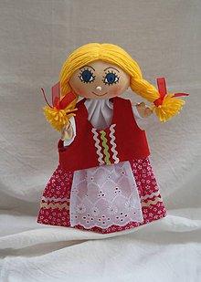 Hračky - Maňuška. Bábika Dievčatko Hanuľka v ľudovom kroji - 10967451_