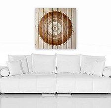 Obrazy - HARMÓNIA A ŠŤASTIE (drevo-natural) 70 x 70 - 10967601_