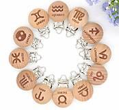 Galantéria - KL121 Klip drevený znamenia zverokruhu - 10967641_