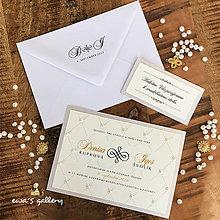 Papiernictvo - Svadobné oznámenie ~Perla Silver~ - 10966242_
