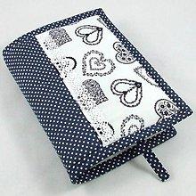Úžitkový textil - Pre knihomoľov - folklórny modrý L - 10967871_