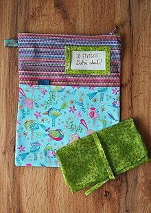 Úžitkový textil - Snack pack (Ružová) - 10966120_
