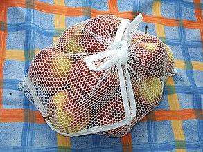Úžitkový textil - eko vrecka na ovocie a zeleninu (25x25 - Biela) - 10965874_
