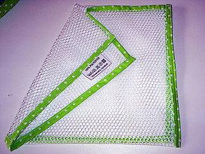 Úžitkový textil - eko vrecka na ovocie a zeleninu (25x25 - Zelená) - 10966136_