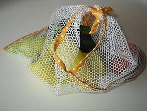 Úžitkový textil - eko vrecka na ovocie a zeleninu (35x35 - Žltá) - 10966146_